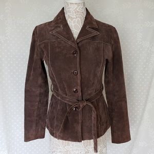 Wilson Leather Suede Jacket with belt